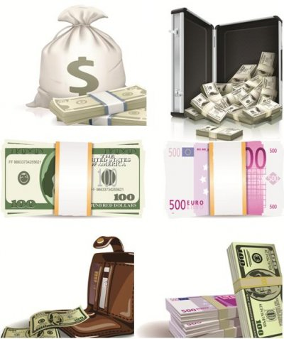 Money dollars Collection vectors