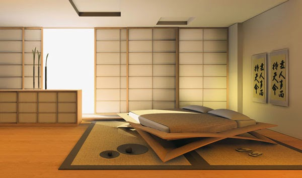 Modern and minimalist bedroom decor japanese style for Japanese minimalist home decor
