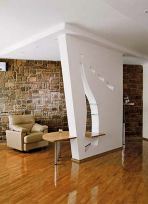 Modern Room Divider Walls: Modern Plasterboard Wall Partition Design