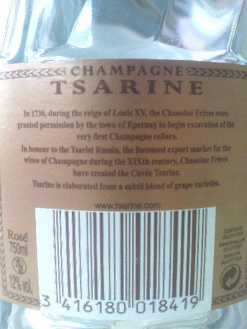 champagner tsarine cuvée rose brut