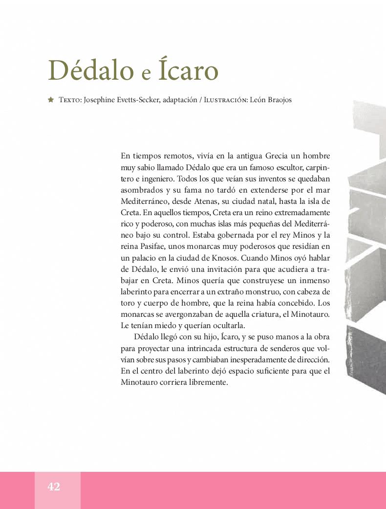Dédalo e Ícaro - Español Lecturas 5to 2014-2015