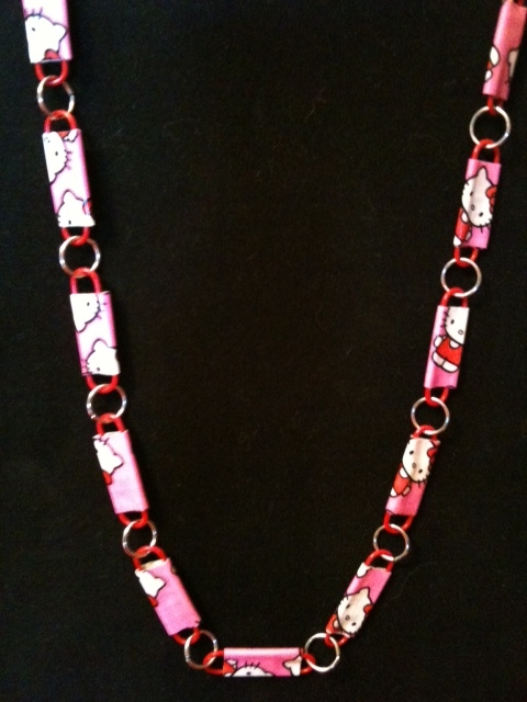 out how a make tape steps duct to flowers necklace step of