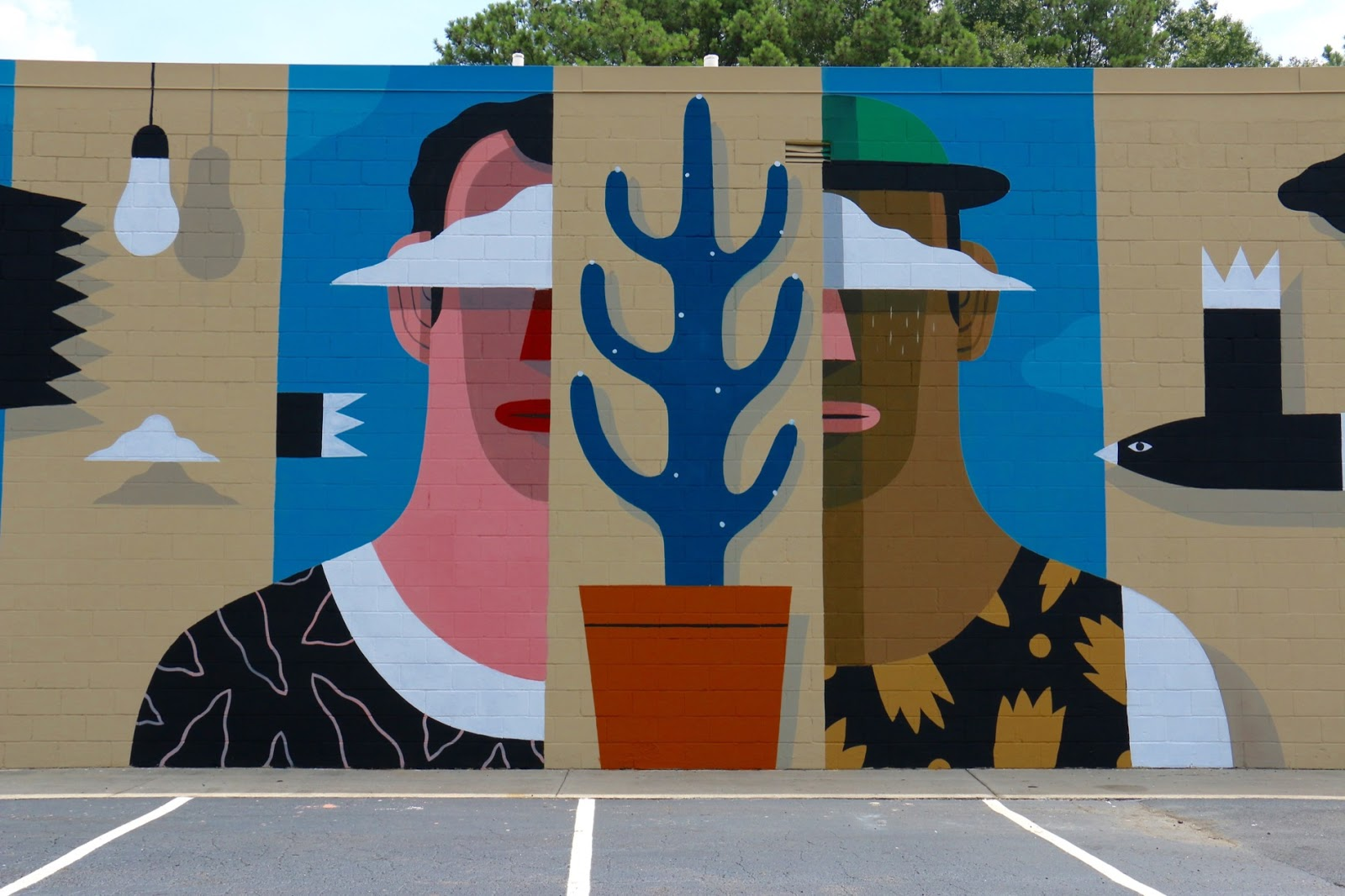 Wallter a new mural by agostino iacurci in atlanta usa for Atlanta mural artist