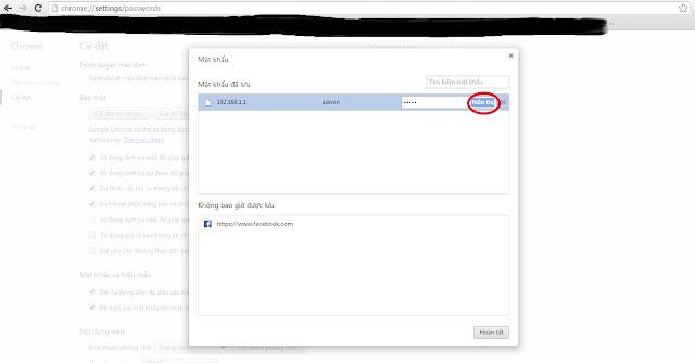 show tài khoản và mật khẩu google chrome cực đơn giản