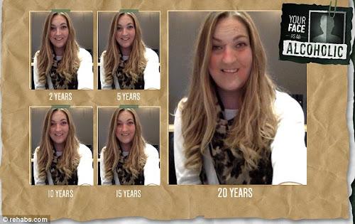 Ferramenta simula o efeito do alcoolismo na aparência através do tempo