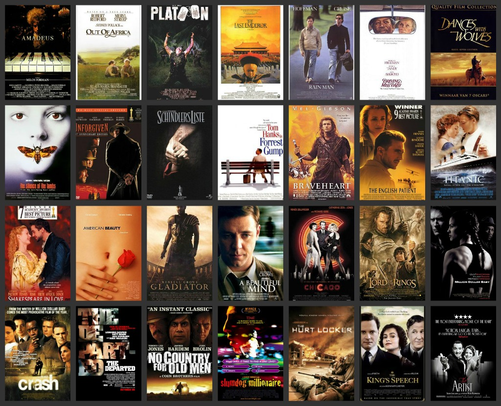 Jessica 39 s bucket list best picture oscar winners for Oscar awards winning movies