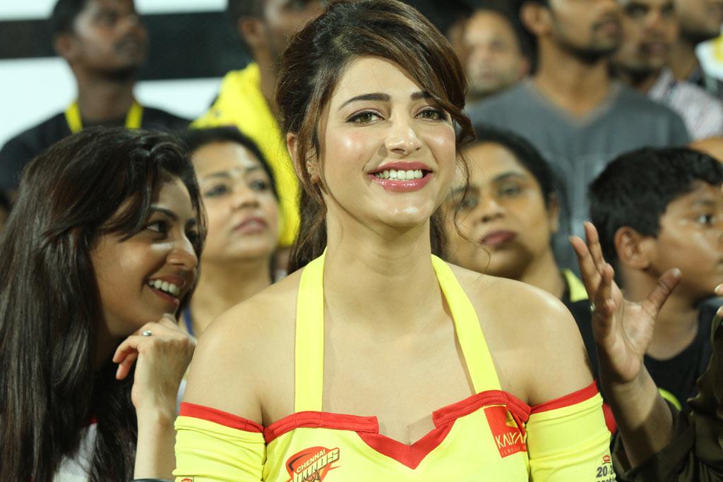 Actress Shruthihassan in CCL Match Stills