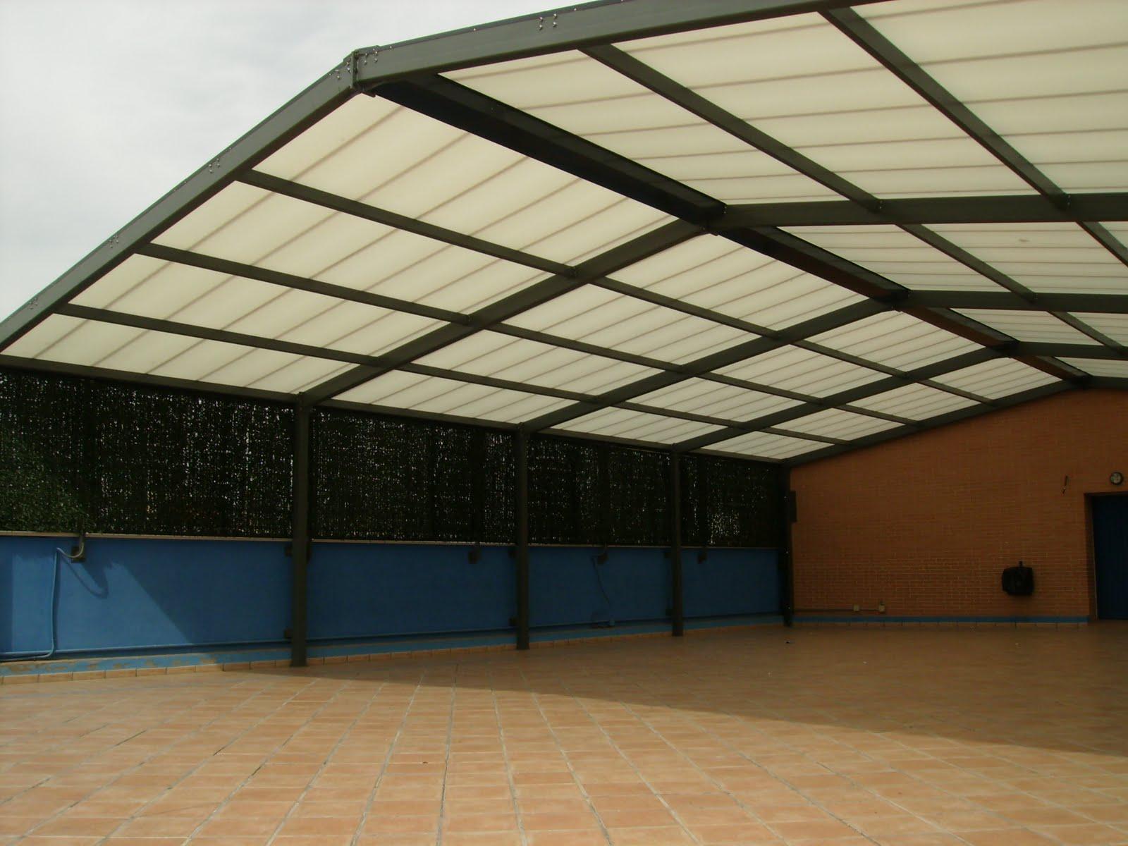 Techos y cubiertas cerramientos y cubiertas para for Techos de metal para terrazas