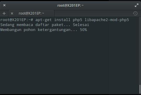 Instal PHP di Elementary / Ubuntu