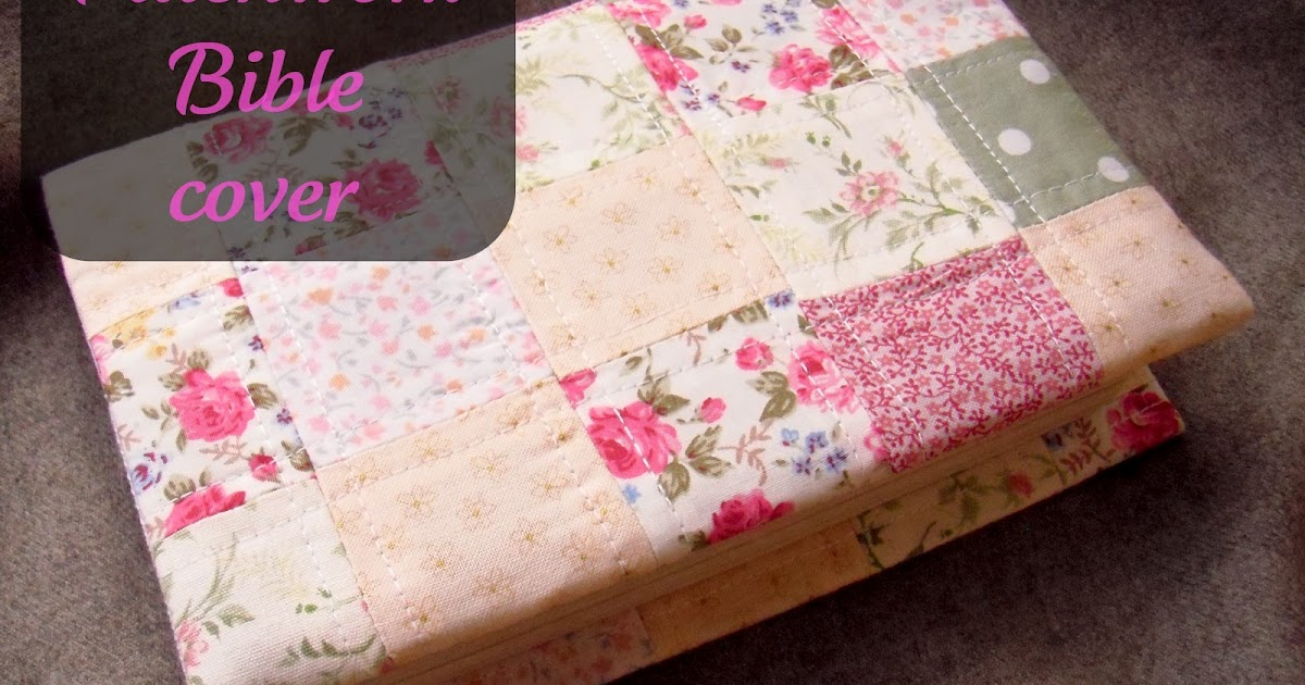 Book Cover Craft Cover : Mrs h the pinned it did patchwork bible cover