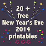 20+ New Year's Eve printables: