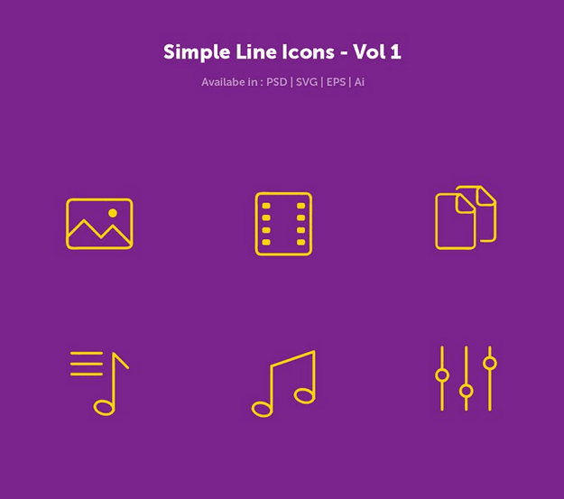 Free Simple Line Icons (PSD, AI, EPS, SVG)