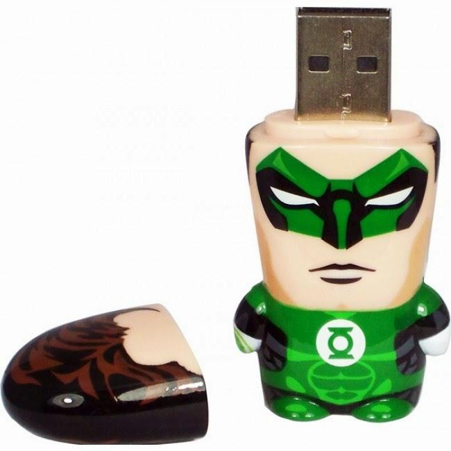 Pendrive Linterna Verde 4 GB