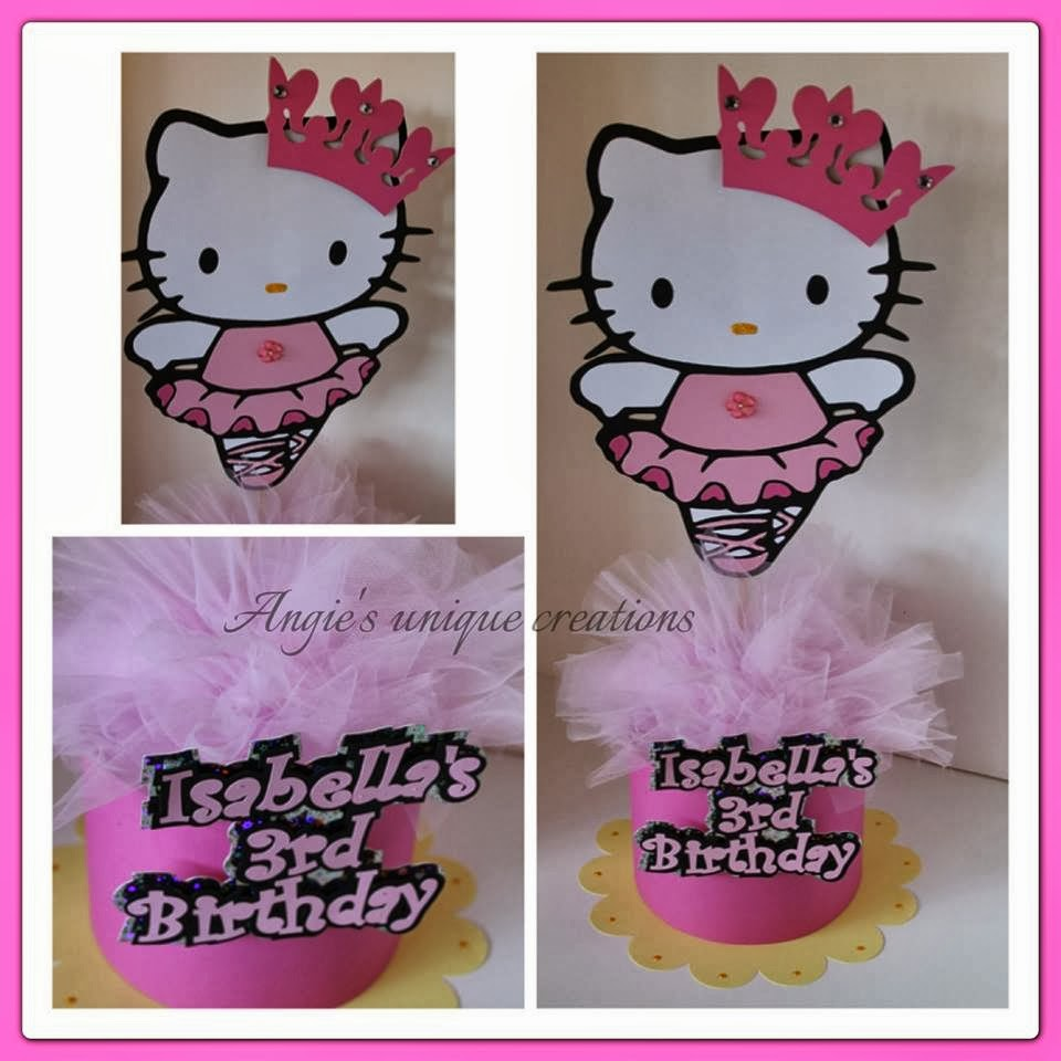 Scrappin Memories Hello Kitty Ballerina Centerpiece