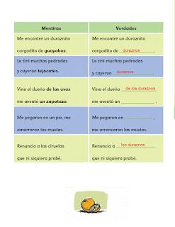 Respuestas Apoyo Primaria Español 2do grado Bloque 4 lección 2 Mentiras y verdades