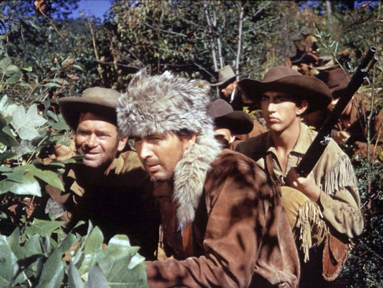 Fess Parker stars as Davy Crockett in the 1954 Disney film.