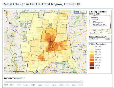 Racial Change in the Hartford Region 1900 2010 An Animated Time