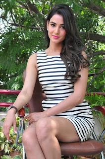 Actress Sonal Chauhan  Pictures in Short Dress at Pandaga Chesko Interview  0126.jpg