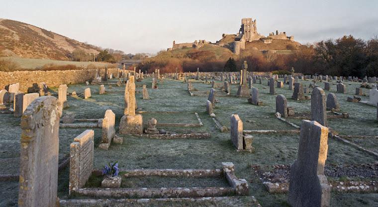 Corfe Castle, Dorset, from the Cemetery