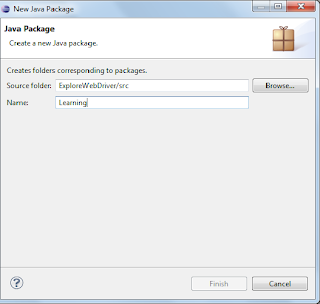 Vamshi Kurra - New Java Package popup