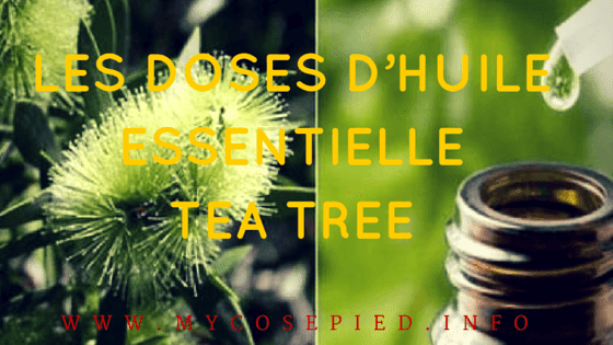 Les doses d'huile essentielle tea tree