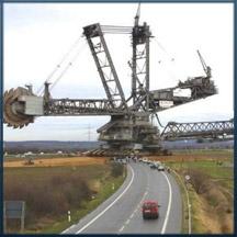 Veículos colossais construídos pelo homem...