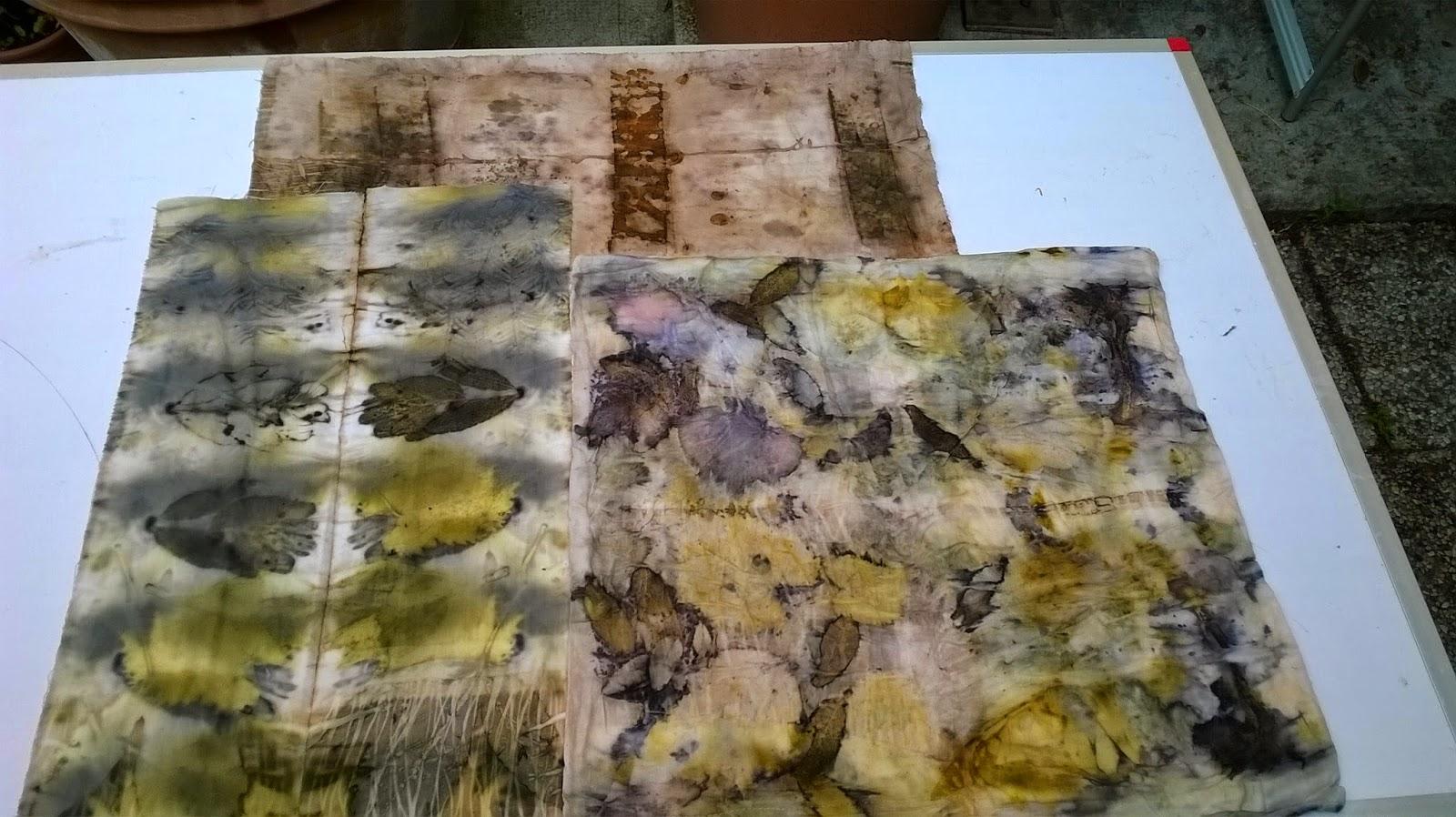 Attivarte ecoprinting con la ruggine la sperimentazione continua - Pulire divano tessuto bicarbonato ...