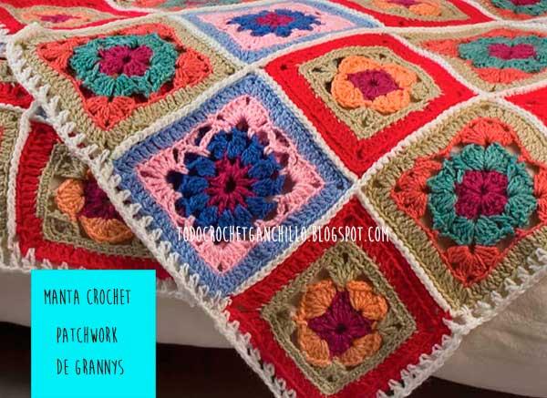 La mejor manta crochet f cil abrigada y creativa paso - Mantas de crochet paso a paso ...