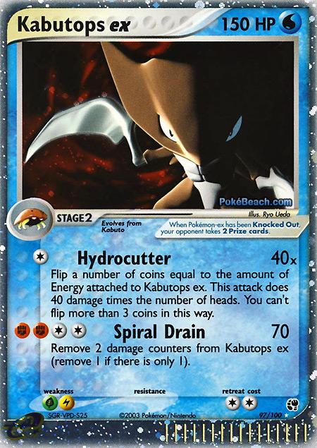 Electric Type Pokemon Cards ex Kabutops ex Pokemon Card ex