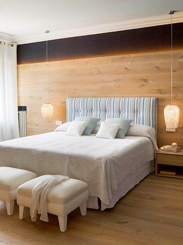 dormitorio en tonos naturales