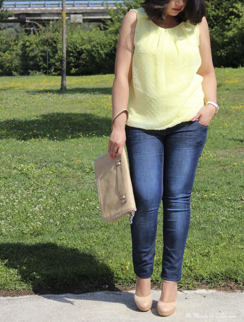 blusa amarillo napilut shop online