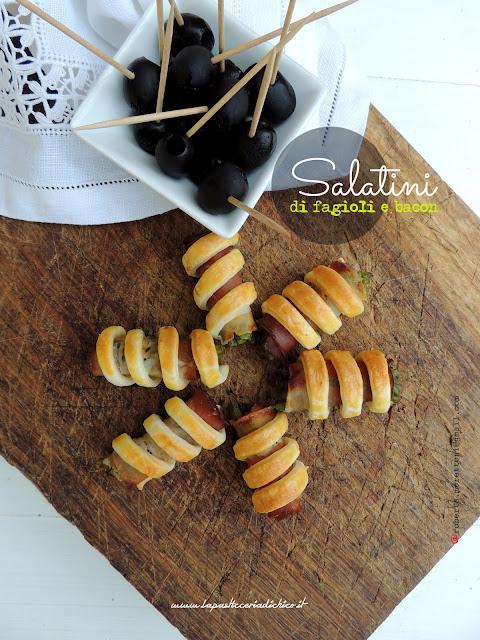 Salatini di fagiolini e bacon