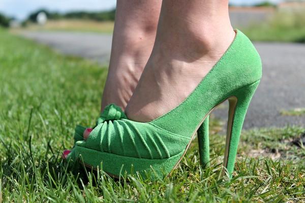 Escarpins Chaussures Vert
