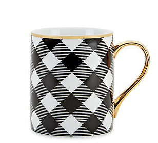 Black and white checkered mug