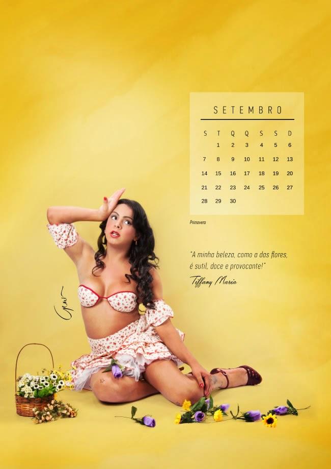 Trans viram pin-ups para calendário - Setembro