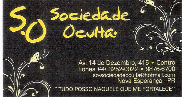 S.O  Sociedade Oculta
