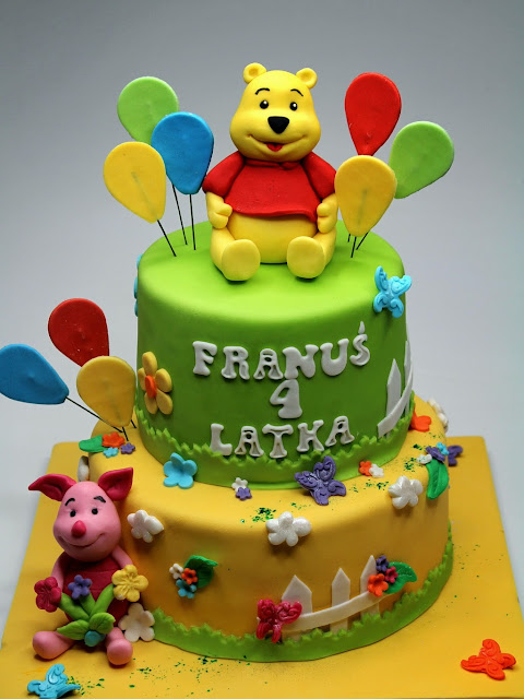 Disney Themed Cake - Winnie the Pooh and Piglet Bday Cake in London