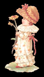 digital vintage girl clip art