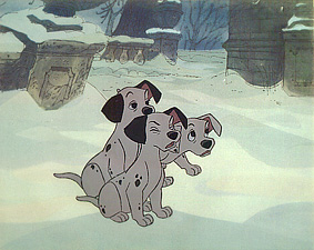Puppies 101 Dalmations 1961 animatedfilmreviews.blogspot.com