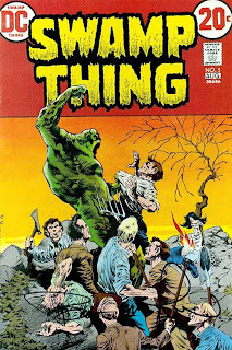 Swamp Thing v1 #5 dc comic book cover art by Bernie Wrightson