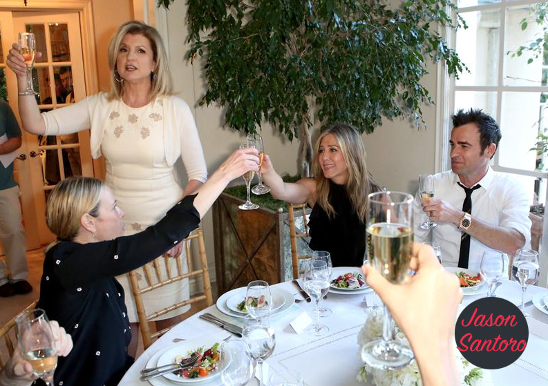 ARIANNA HUFFINGTON THROWS JENNIFER ANISTON A PARTY FOR HER MOVIE 'CAKE'