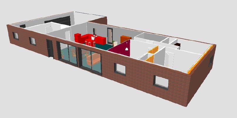 Best plan en d de la maison with plan maison 3 chambres 3d