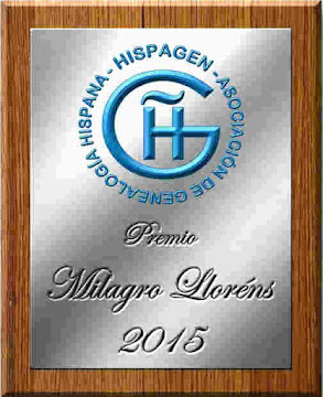 Premio Milagro Lloréns. Hispagen 2015