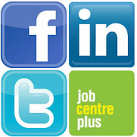 Facebook, Linkedin, Twitter and Job Centre Plus Icons