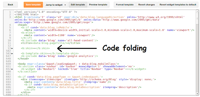 Code folding and auto-indentation