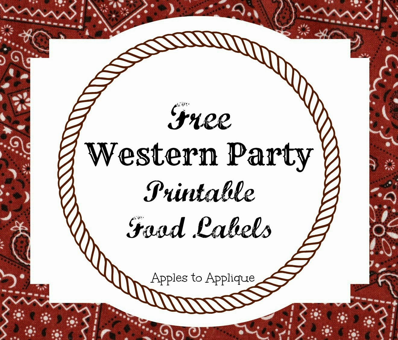 picture relating to Free Printable Food Labels for Party called Apples toward Applique: Western Occasion: Foods Labels Absolutely free Printables