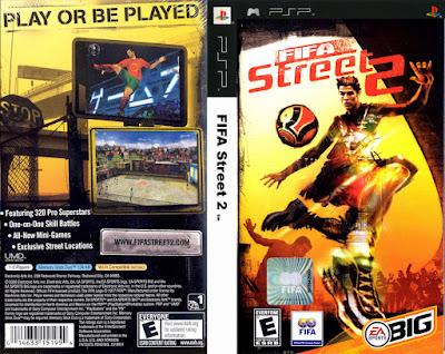 Jogo Fifa Street 2 PSP DVD Capa