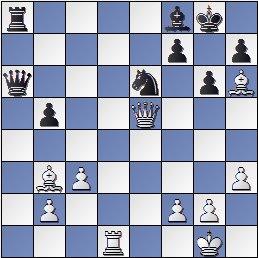 Posición partida de ajedrez Medina-Rossetto1946, posición después de 26… Af8