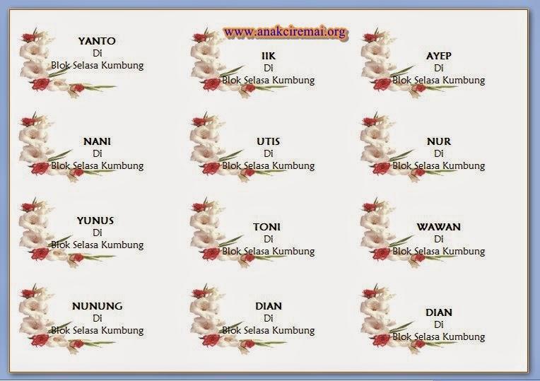 Label Undangan Unik Dengan Background Gambar Bunga | Kalam Azhar