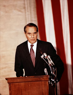 In 1923 on this day future Republican Presidential Nominee Robert Joseph (&quot;Bob&quot;) Dole was born in Russell, Kansas. Despite a fine public speaking career in the Senate, he floundered badly on presentation with a series of mis-steps throughout the 1984 race. This campaign failure enabled the Democratic Party to occupy the White House for a further four years after Ted Kennedys two terms of office. <span class=EditorText>An article from the <a href=http://www.todayinah.co.uk/index.php?thread=EMK_69>No Chappaquiddick</a> by Eric Lipps in which EMKs car only almost went off that bridge on July 18, 1969.</span>